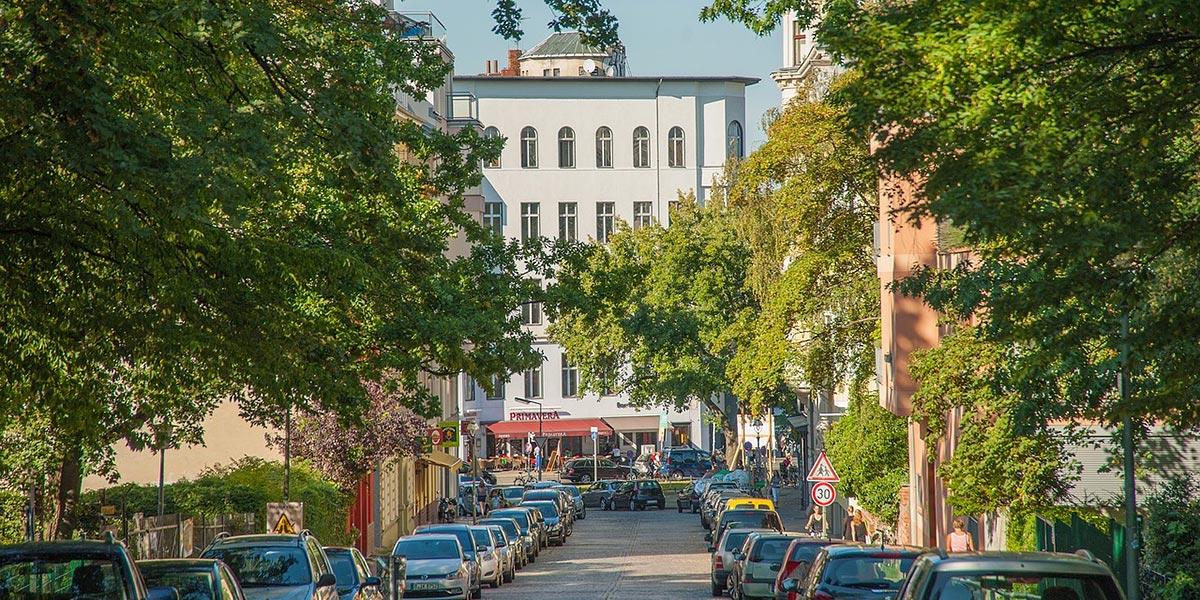 Typische Berliner Straße