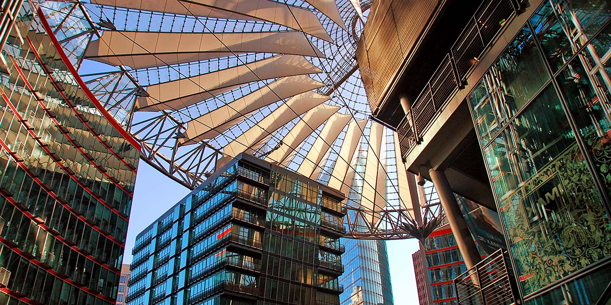 das Sony-Center am Potsdamer Platz